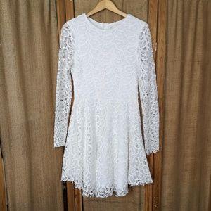 White Lace Dress Size L